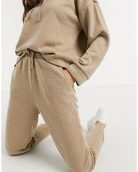 Mango Knitted Pants Co-ord - Natural