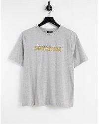 Whistles T-shirt à logo Staycation - Gris - Blanc