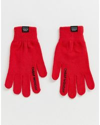 Cheap Monday Handschuhe mit Logo - Rot