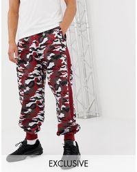 D-ANTIDOTE sweatpants - Red