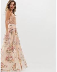 Needle & Thread - Jupe longue fleurs - Lyst