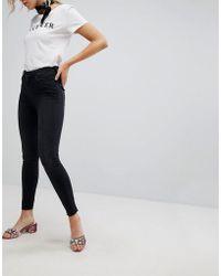 New Look - Skinny Frayed Hem Lift And Shape Jean - Lyst