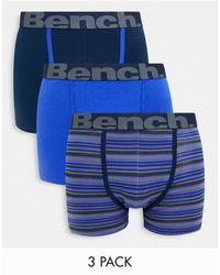 Bench 3 Pack Trunks - Blue