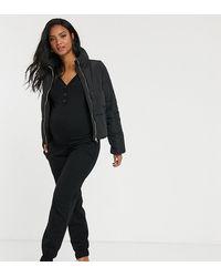 ASOS ASOS DESIGN Maternity - Jogger confort en tissu brossé - Noir