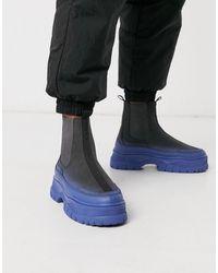 ASOS Co-ord Chelsea Sneaker Boots - Black