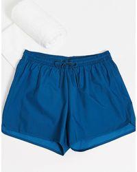 Weekday Tan Ripstop Swim Shorts - Blue