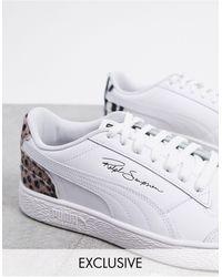PUMA Ralph - Sampson - Sneakers Met Gemixte Luipaard- En Zebraprint, Exclusief - Wit