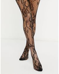 ASOS Lace Floral Tights - Black