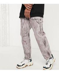 Reclaimed (vintage) Skater-fit Jeans Met Handgetekende Print En Wassing - Paars