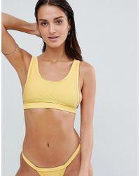 TWIIN - Sunset Ribbed Crop Bikini Top - Lyst