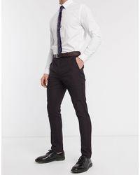New Look Skinny Suit Pant - Purple