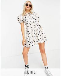 Miss Selfridge Collar Poplin Dress - White