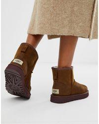 UGG Классические Кожаные Ботинки - Коричневый