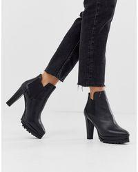 AllSaints Sarris Heeled Leather Boots - Black
