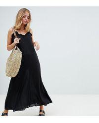 ASOS - Scoop Back Maxi Dress In Crinkle - Lyst