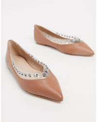 KG by Kurt Geiger Kg By Kurt Geiger Miriam Ballet Flats With Studs - Natural