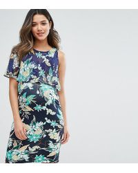 GeBe Maternity - Nursing Printed Double Layer Dress - Lyst