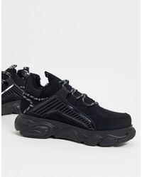 Buffalo Vegan Cld Hiker Chunky Sneakers - Black