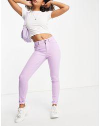 Noisy May Фиолетовые Зауженные Джинсы Из Смесового Органического Хлопка -фиолетовый Цвет - Пурпурный