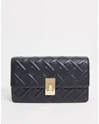 ASOS Quilted Cross Body Bag With Hardware Detail - Black