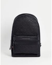 Tommy Hilfiger Черный Рюкзак С Логотипом-монограммой -черный Цвет