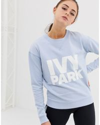 Ivy Park Sudadera con logo de - Azul
