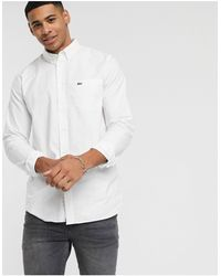 Lacoste Button Down Collar Oxford Shirt - White