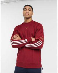 adidas Originals - Бордовый Свитшот С Логотипом -красный - Lyst