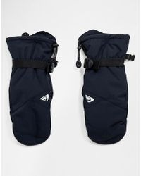 Quiksilver Mission Ski Mitts In Black