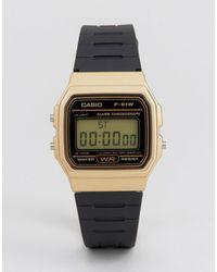 G-Shock F91wm-9a Digital Silicone Strap Watch - Black