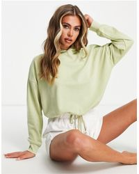 Hunkemöller Pop Recycled Cotton Lounge Cropped Hoodie - Green