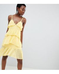 Vero Moda - Frill Cami Mini Dress - Lyst