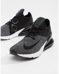 Nike - Air Max 270 Flyknit Trainers In Black Ao1023-001 - Lyst