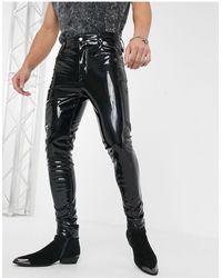 ASOS High Waisted Skinny Jeans - Black