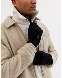 Polo Ralph Lauren Gants en laine avec logo joueur - Noir