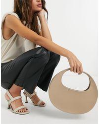 ASOS Smooth Curved Shoulder Bag - Natural