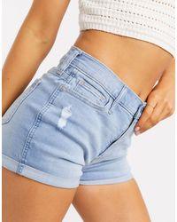 Hollister High Rise Denim Shorts - Blue