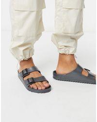 Birkenstock – Arizona – Sandalen mit EVA-Zwischensohle - Grau