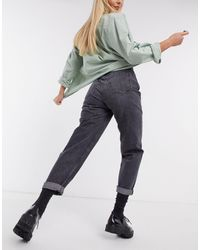 Pull&Bear Jean mom à taille élastique - délavé - Noir
