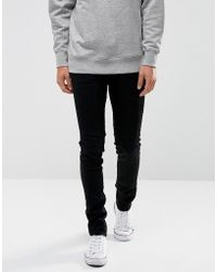 WÅVEN - Super Skinny Spray On Jeans In Black - Lyst