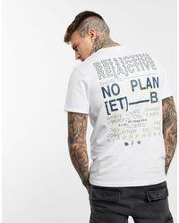 Jack & Jones Белая Oversized-футболка С Принтом Core-белый