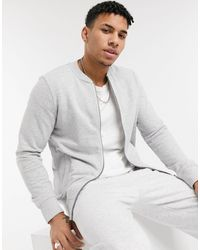 Tom Tailor Jersey Bomber Jacket - Grey