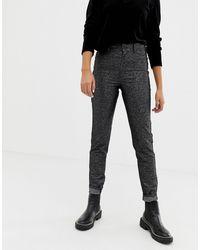 Cheap Monday Sparkley High Waist Jean With Organic Blend Cotton - Black