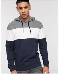 Esprit Colour Block Hoodie - Grey