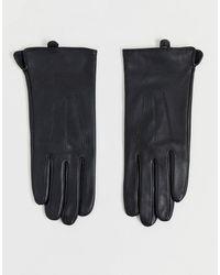 Barneys Originals Schwarz Handschuhe aus echtem Leder mit Touchscreen-Funktion