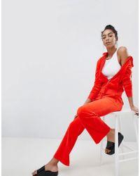 Juicy Couture - Black Label Velour Straight Leg Joggers - Lyst