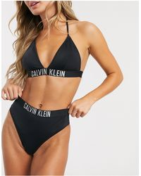 Calvin Klein Bikinibroekje Met Hoge Taille En Logo - Zwart