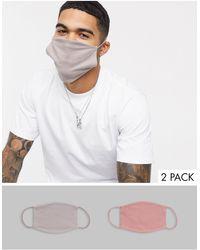 ASOS Набор Из 2 Масок Для Лица (серая/сумеречно-розовая) - Многоцветный