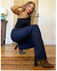 Rag & Bone Maya - Jeans bootcut a vita alta indaco - Blu