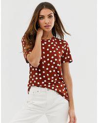B.Young T-shirt à pois - Rouge